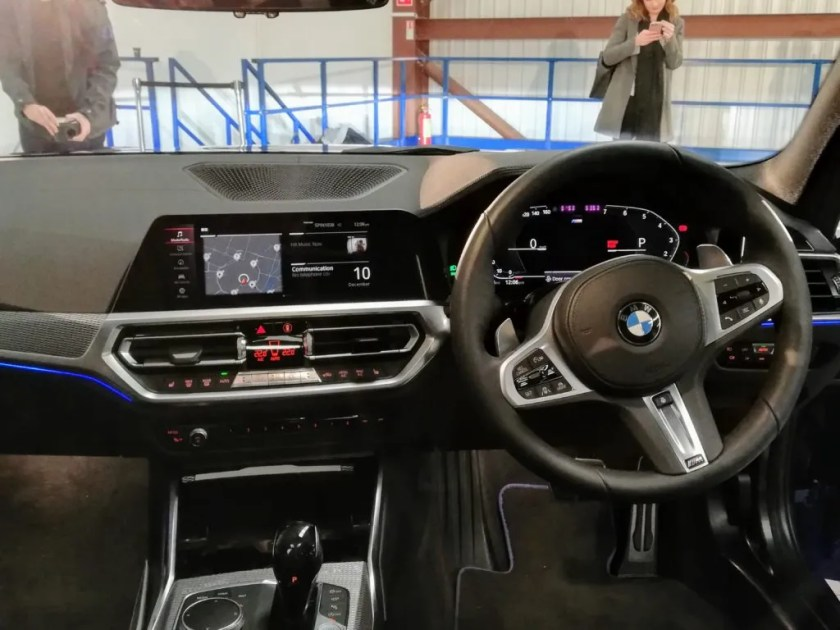 The interior of the BMW 3 Series