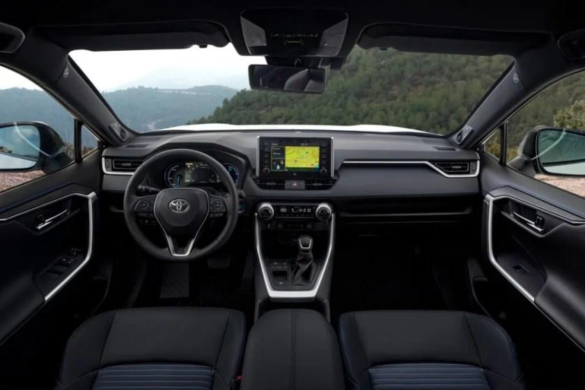 The interior of the new Toyota RAV4 Hybrid