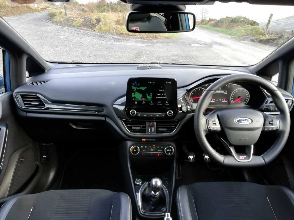 The interior of new Ford Fiesta ST