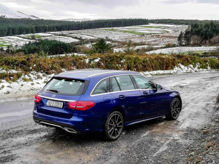 The Mercedes-Benz C200d Estate AMG Line is available from €47,696