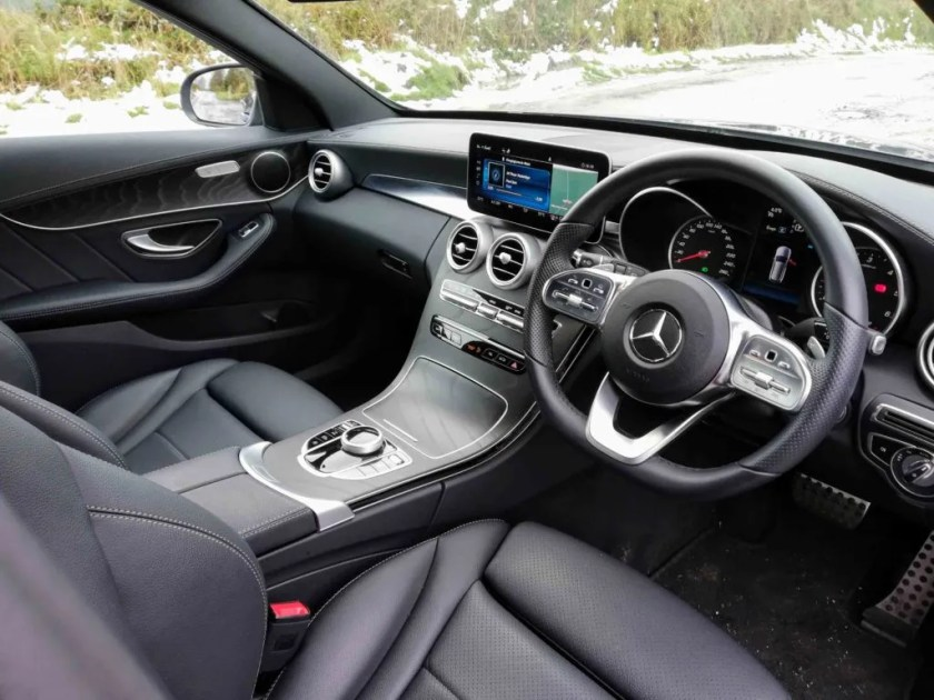 The interior of the new Mercedes-Benz C-Class