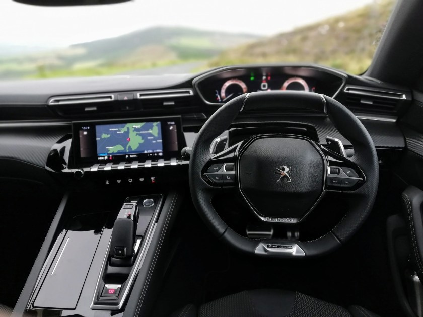The cool new interior of the Peugeot 508