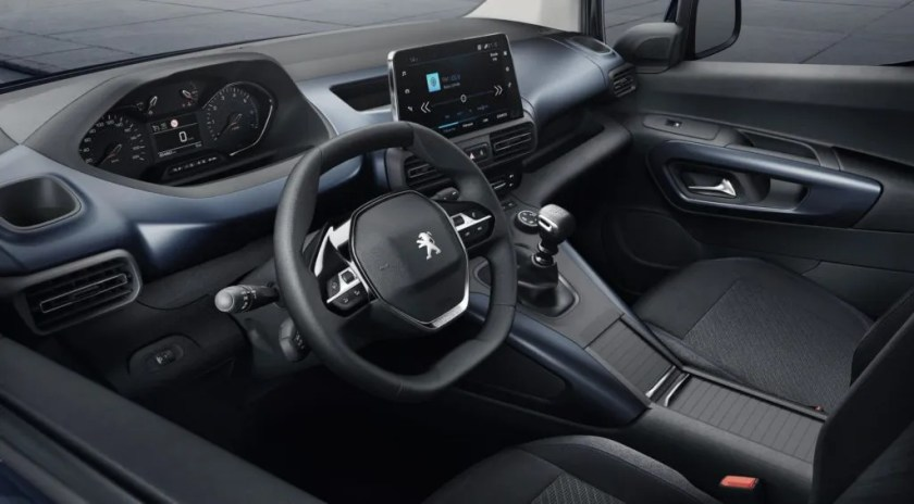 The interior of the Peugeot Rifter