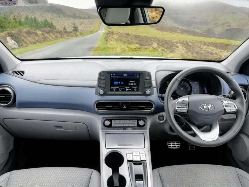The interior of the new Hyundai Kona Electric