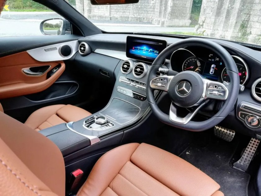 The interior of the Mercedes-Benz C-Class Coupé