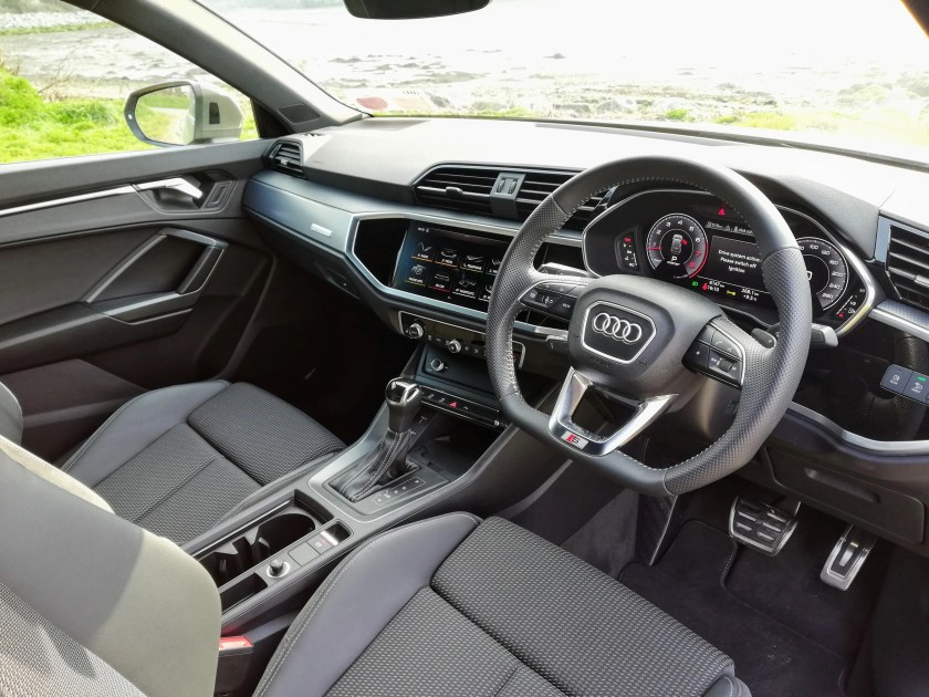 The interior of the new Q3