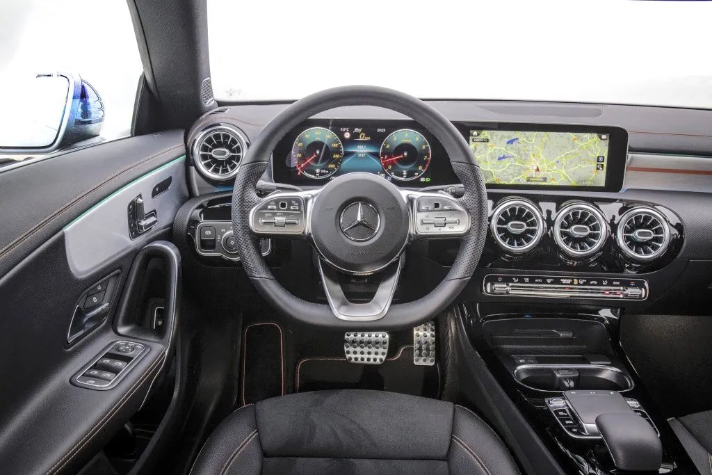 The interior of the Mercedes-Benz CLA