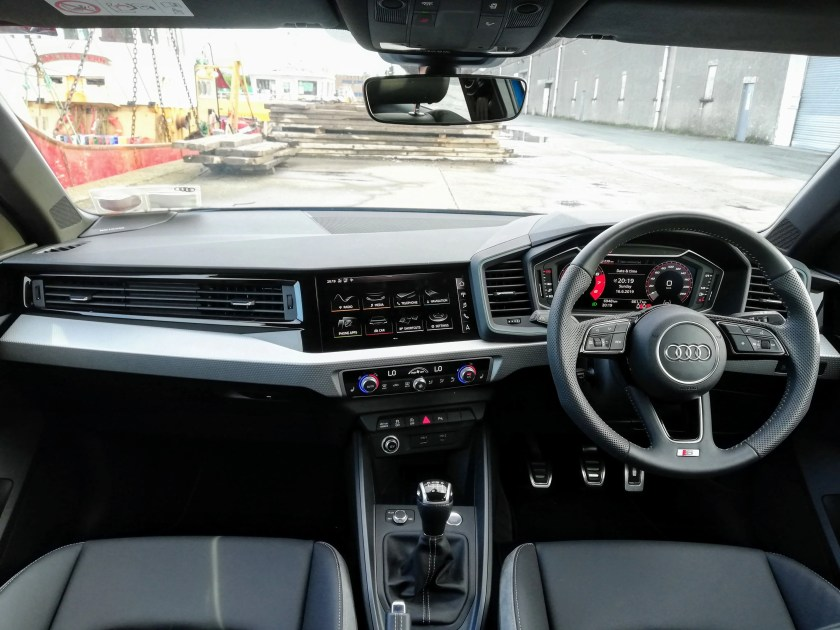 The interior of the new Audi A1