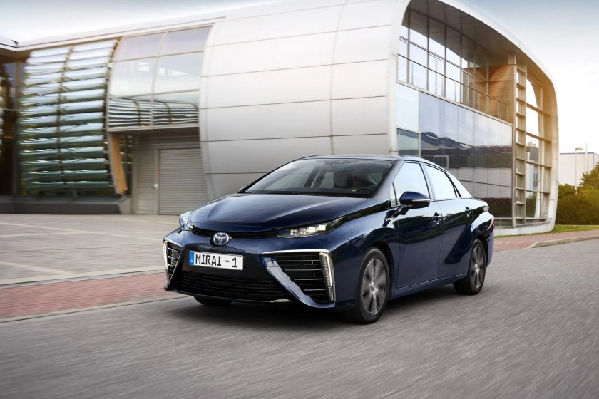 The Toyota Mirai is Toyota's hydrogen fuel cell car