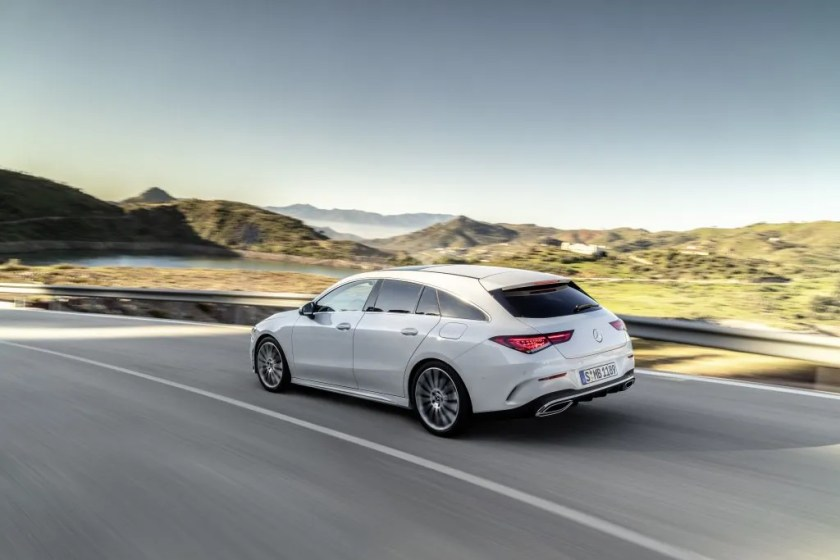 The Mercedes-Benz CLA Shooting Brake is a stylish and practical compact estate model