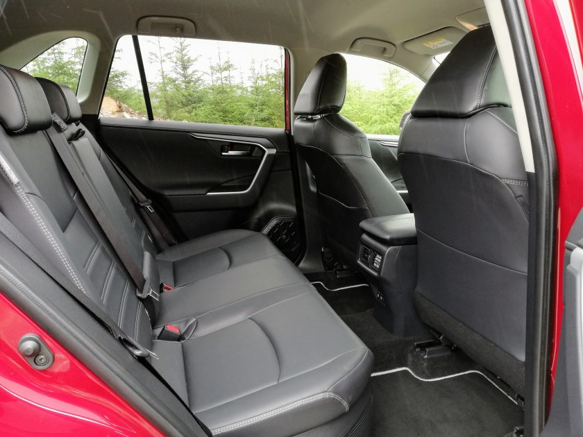 Rear legroom in the Toyota RAV4 Hybrid
