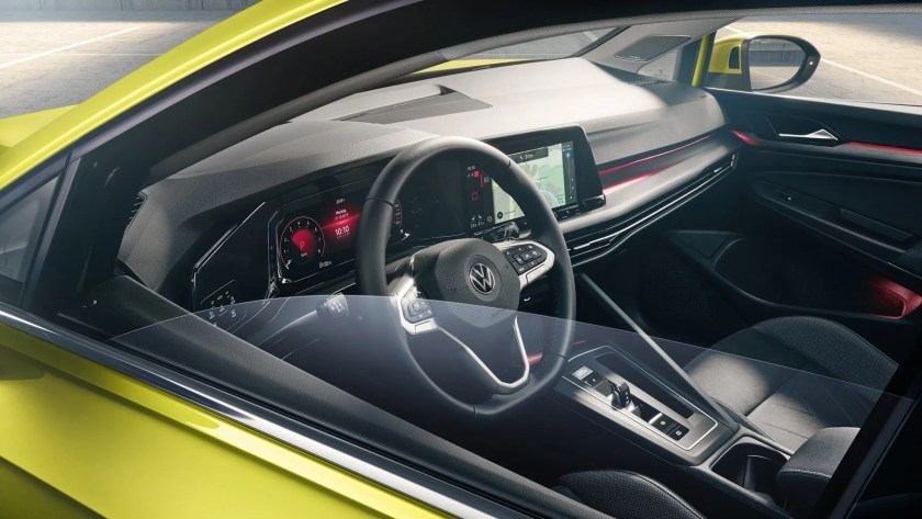 The interior of the new Volkswagen Golf