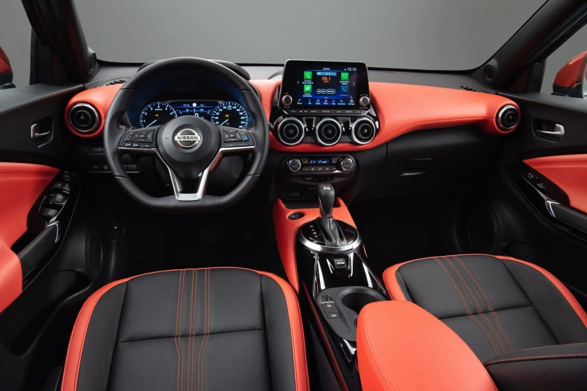 The interior of the new Nissan Juke