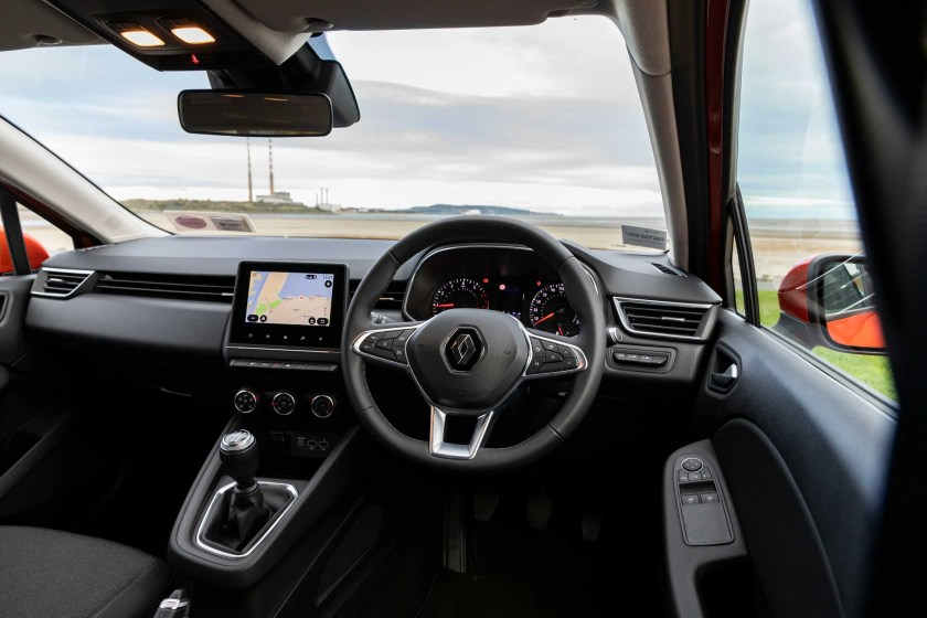 The interior of the new Clio