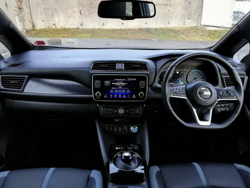 The interior of the new Nissan LEAF