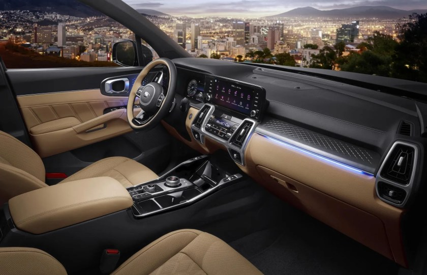 The interior of the 2020 Kia Sorento