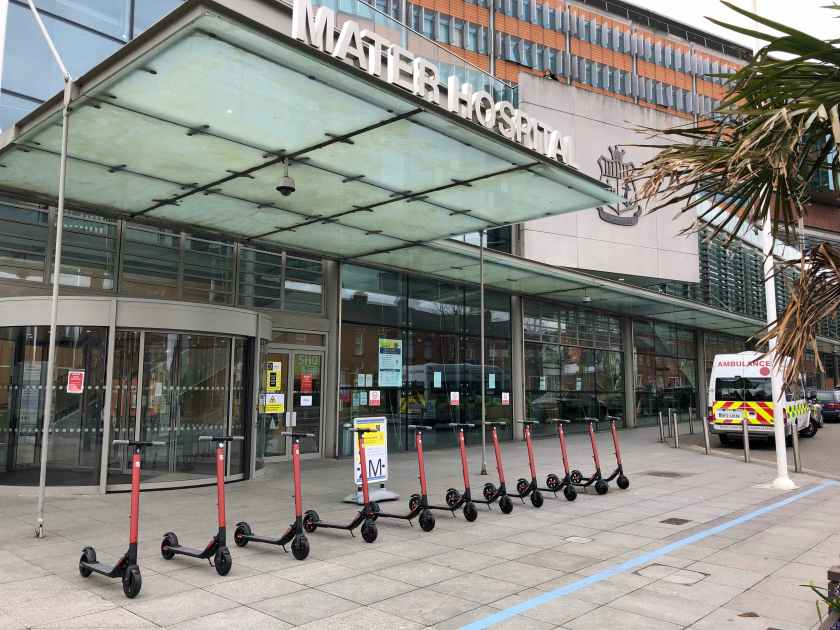 SEAT Ireland has donated a fleet of electric scooters to the Mater Hospital
