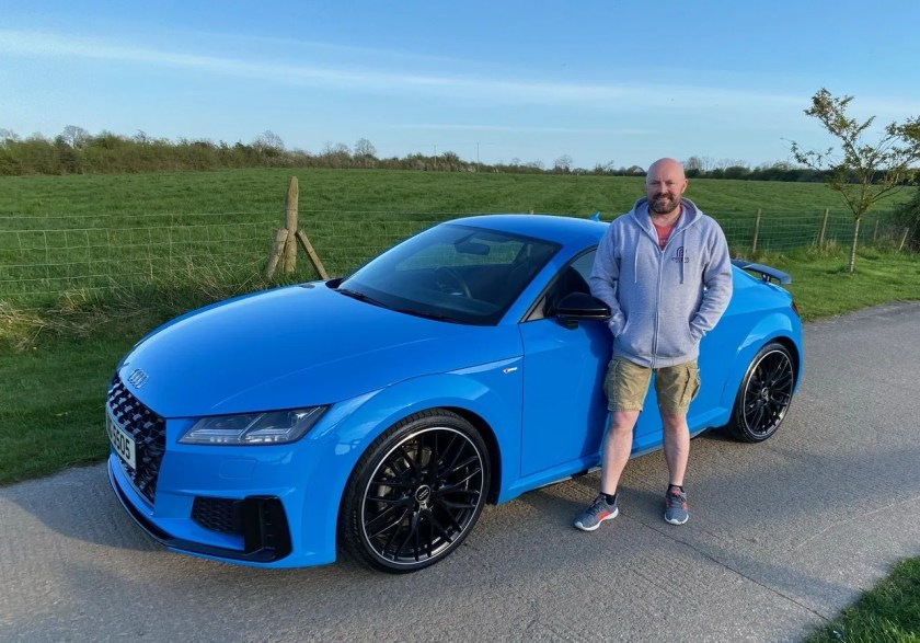 Fraser Macleod with his Audi TT