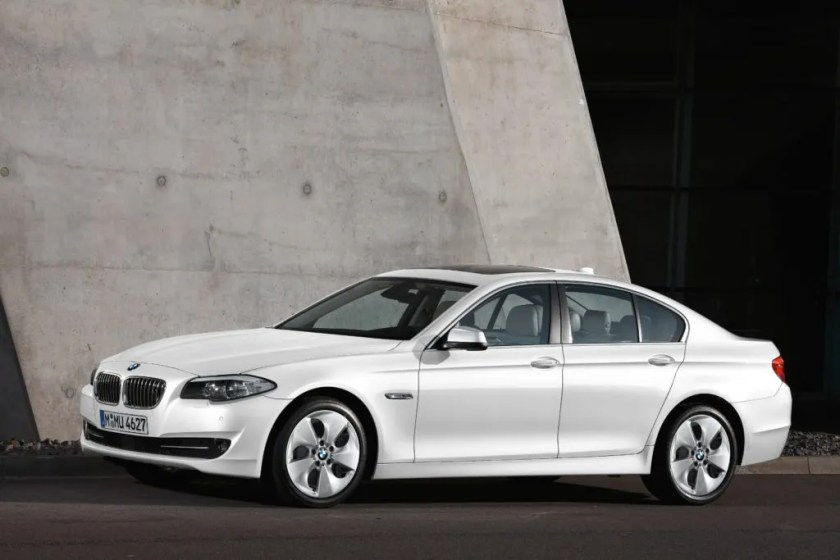 Breda drives a 6th generation BMW 5 Series like this one