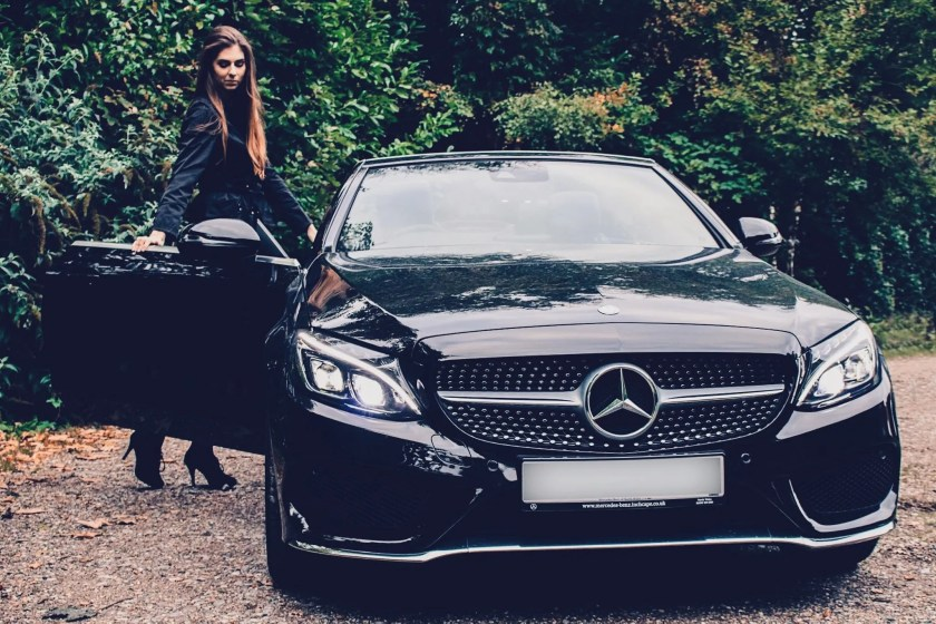Melina and her Mercedes-Benz C-Class Cabriolet