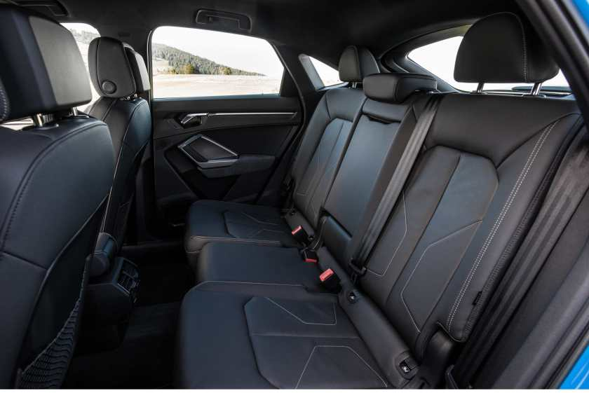 Rear seating in the Q3 Sportback