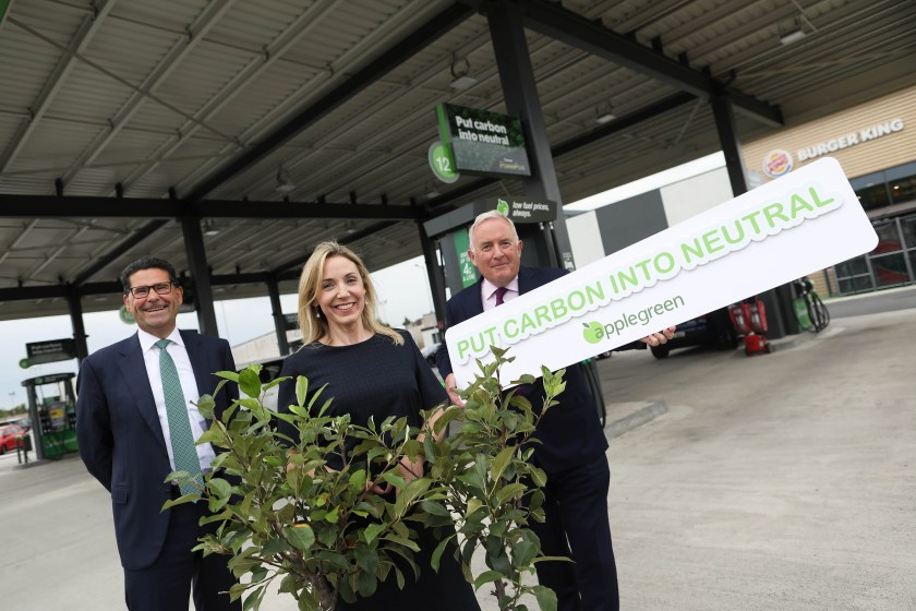 Joe Barrett, COO, Applegreen; Fiona Matthews, Commercial Director and Bob Etchingham, CEO.