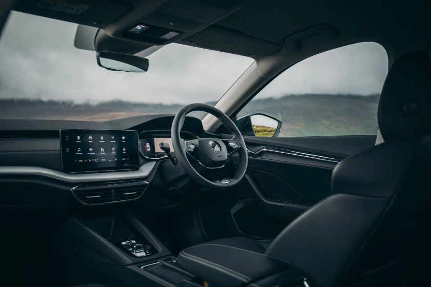 The interior of the new Octavia