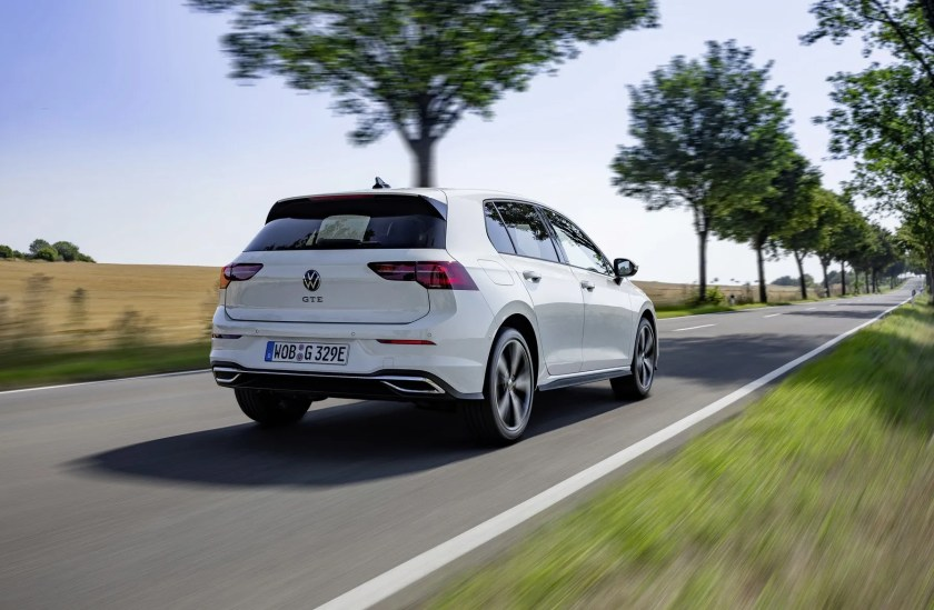 The Volkswagen Golf GTE now has 245 hp and acceleration like a GTI