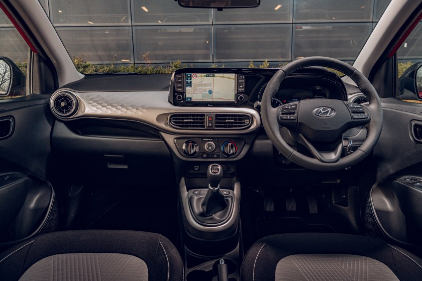 The interior of the new Hyundai i10