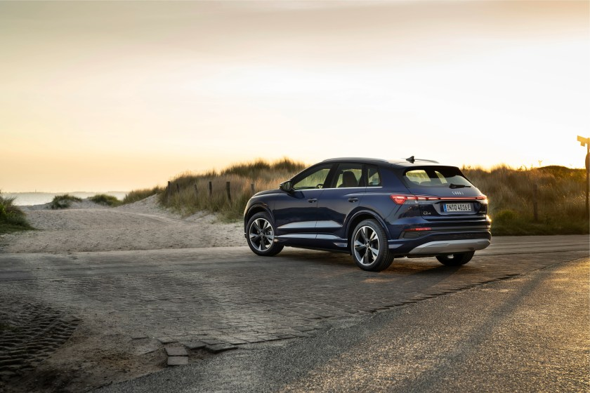 The Q4 e-tron is offered here with two different battery capacities