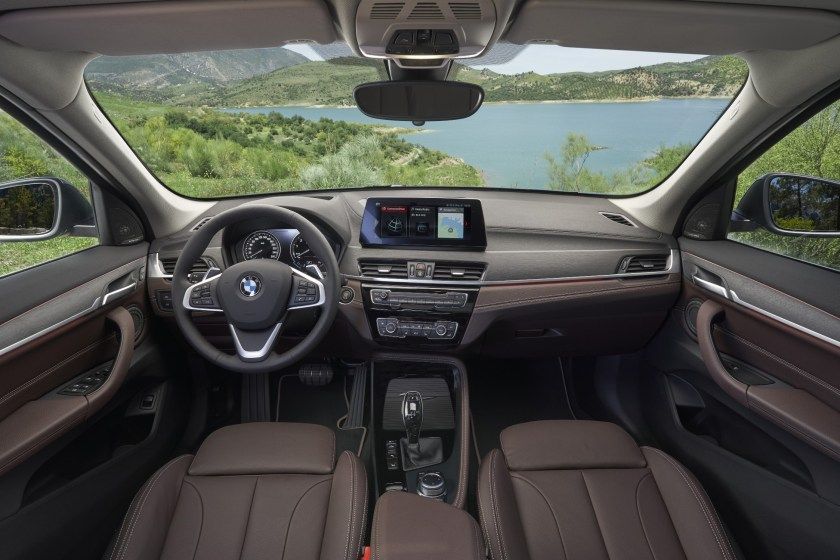 The interior of the BMW X1