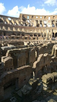The arena floor of the Colosseum