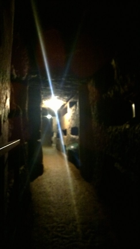 Inside the Domatilla Catacombs
