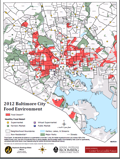 Baltimore food deserts