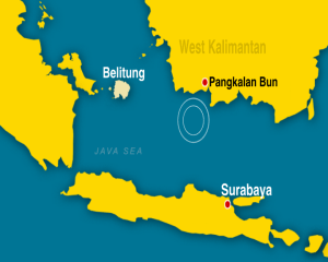plane found pangkalan-bun-map-data