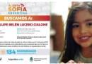 Alerta Sofía: el país busca a Guadalupe Belén Lucero Cialone