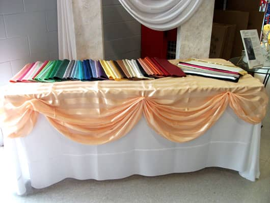 chair cover rental orland park outdoor hammock tablecloth rentals in joliet morris il channahon options tablecloths 1