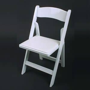 folding chair rental chicago black wing for weddings chairs events in joliet white padded