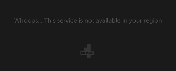 Service not available in your region