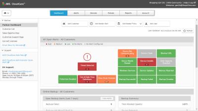 AVG CloudCare central dashboard big