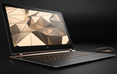 HP Spectre 13.3_right facing paired with wireless mouse