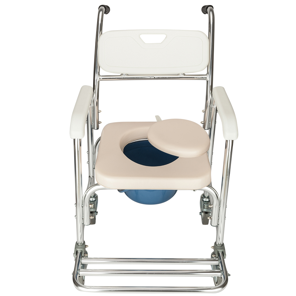 Portable Medical Commode Wheelchair Bedside ToiletShower