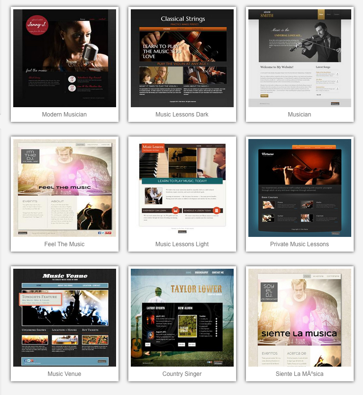 Image: Music Templates