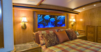 yacht glass art headboard
