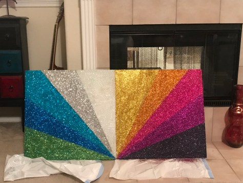 DIY Glitter Wall Art
