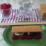 Nutella-and-raspberry-s'mores recipe