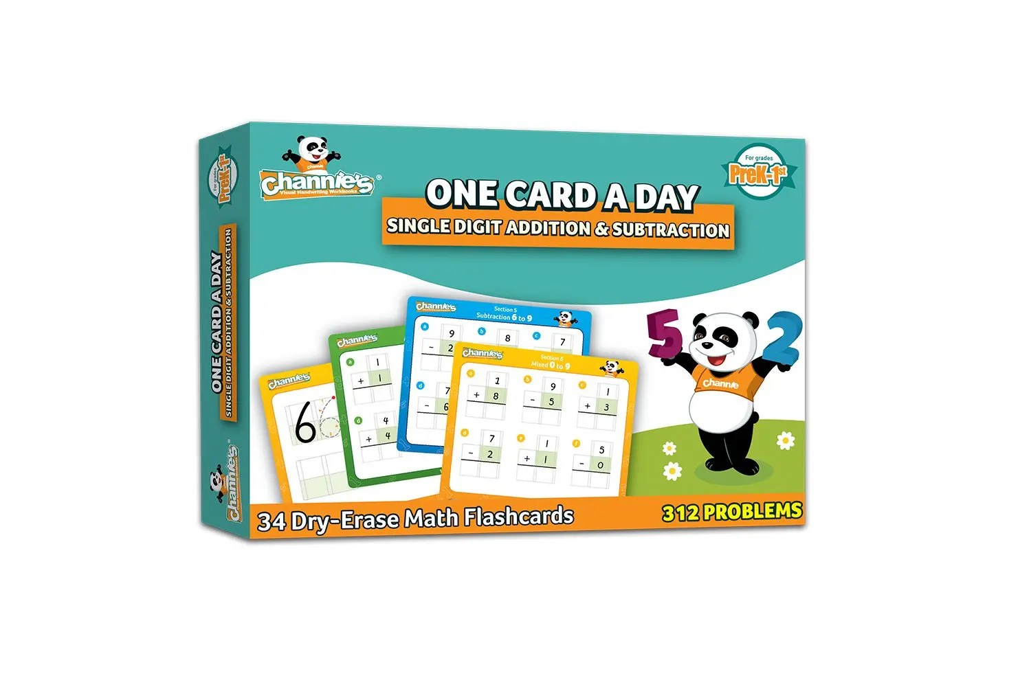 Channie S Visual One Card A Day Single Digit Addition