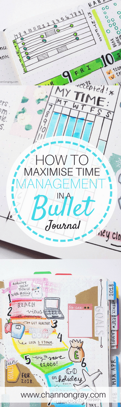 In a bullet journal, you can track all tasks; you can also monitor the time in which they take you to complete/attend to them. Effective time management is when you successfully plan and then carry out a series of tasks/events with absolute control over how long they might take you. It's about working smarter, optimising your productivity outcomes and being able to divide up your time into sizeable, realistic chunks. For more information on how to Maximise #TimeManagement then head on over to my blog - channongray.com // heythereChannon #bulletjournal #bujo #scrapbook #productivity --> Maximise Time Management!