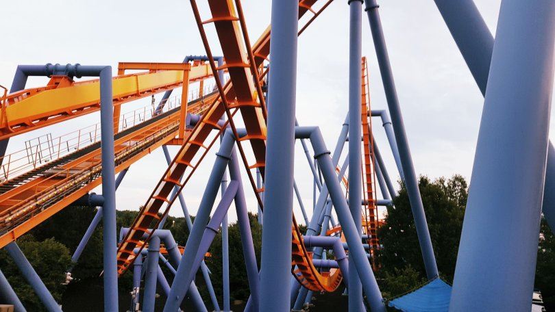 Dorney Park and Wildwater Kingdom in Allentown, Pennsylvania. The park has a variety of rides from thrillers to the more tame as well as full-sized, jam-packed waterpark. There is lot to do for children as well as adults. You can make a day of your trip with the rollercoaster park side not closing until late. - www.channongray.com // heythereChannon