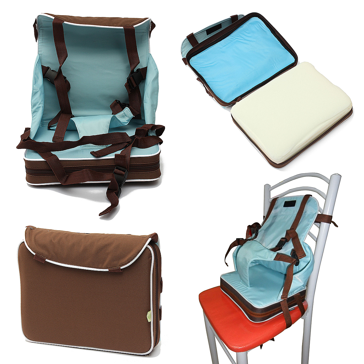 Booster High Chair Seat Compact Travel Booster Seat